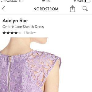 Lovely purple ombré lace sheath dress!